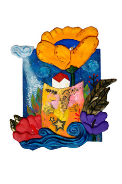 016, 그 중에 제일 꽃, 53 x 60 cm, mixed media