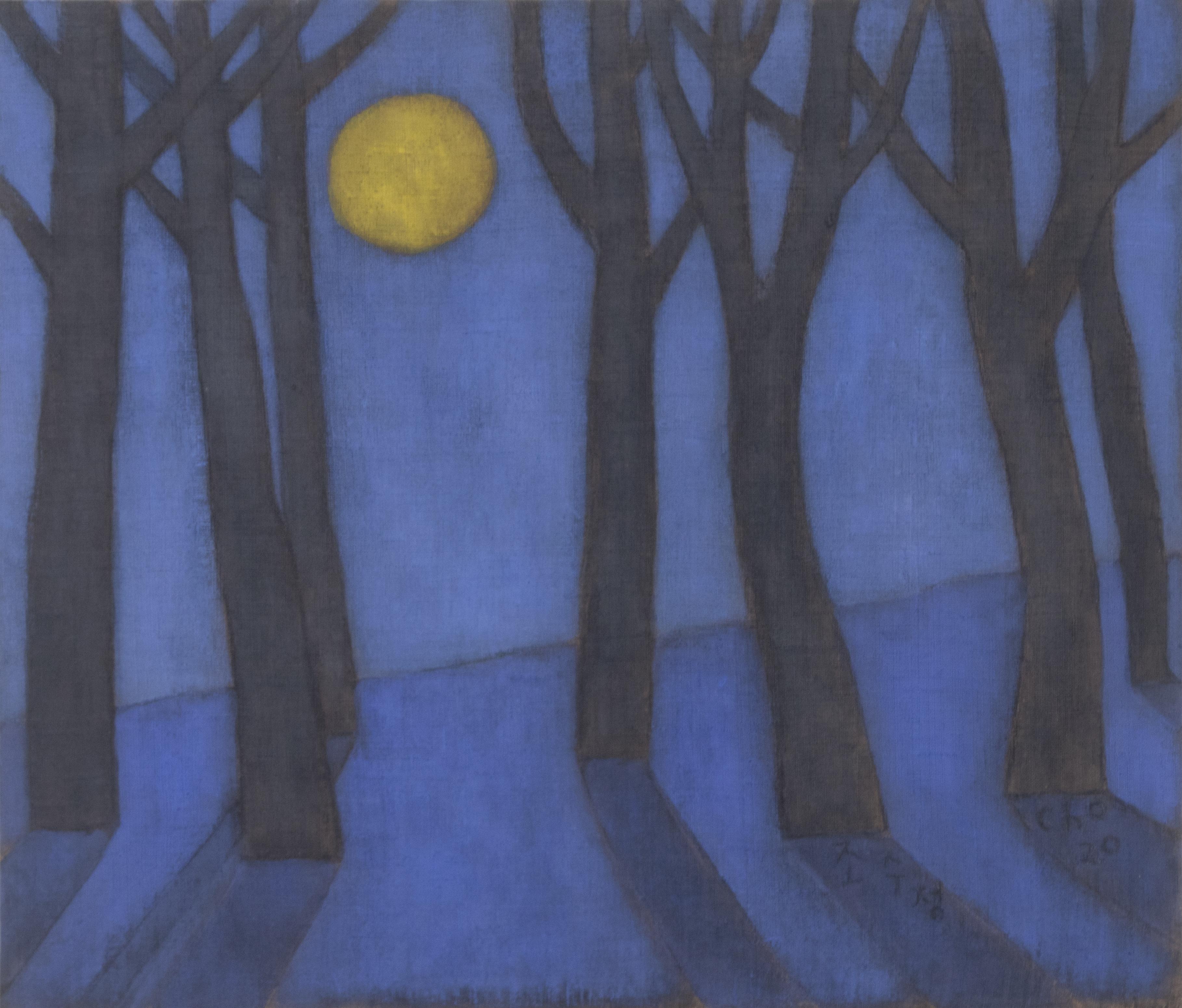 조수정2, 푸른 강원의 달밤, 45.3 x 53