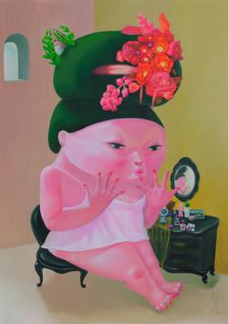I am beautiful 65x91 oil on canvas 2019.