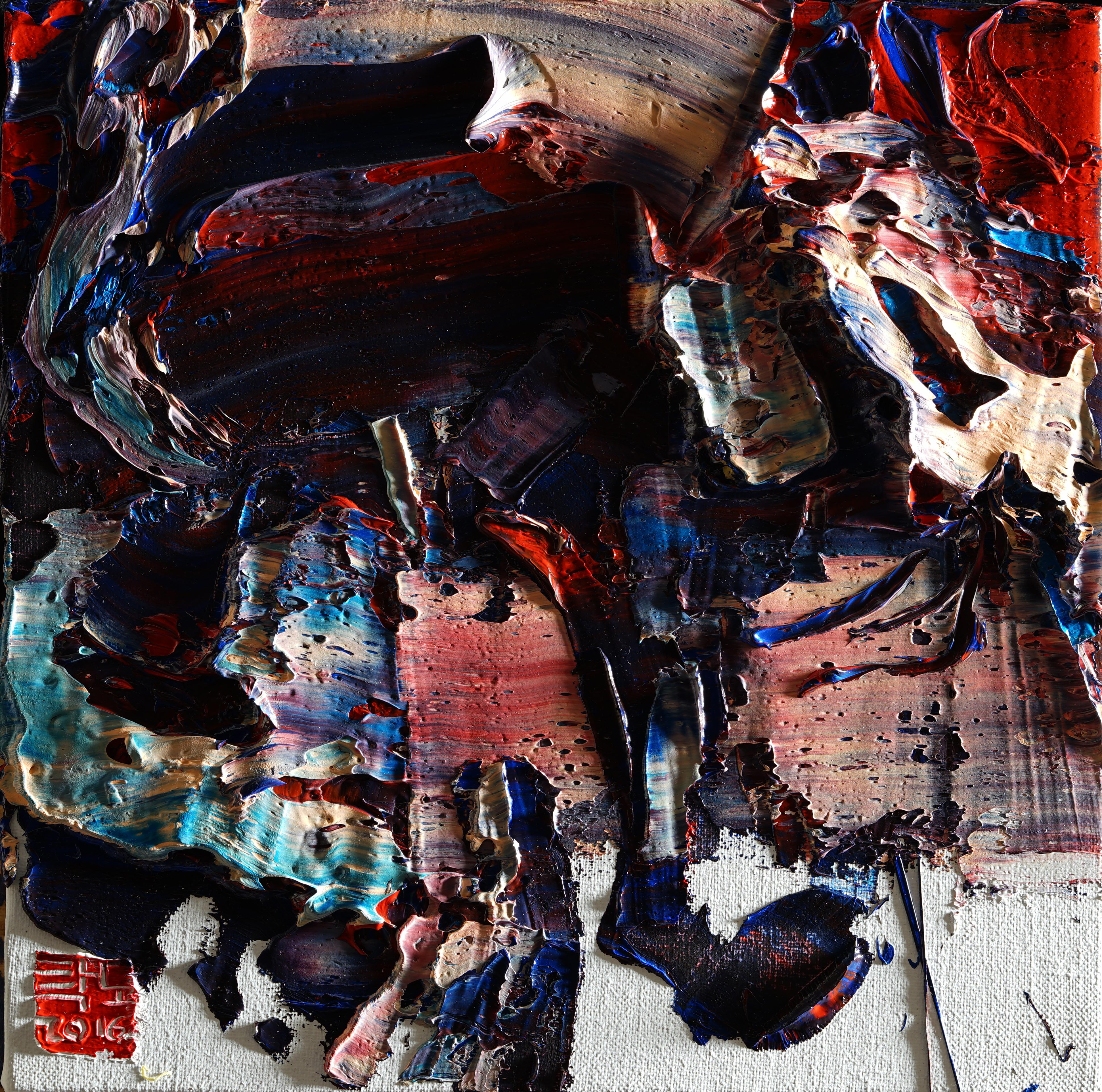 2016 wild aura horse 021, 33x33cm, Oil on canvas, 2016