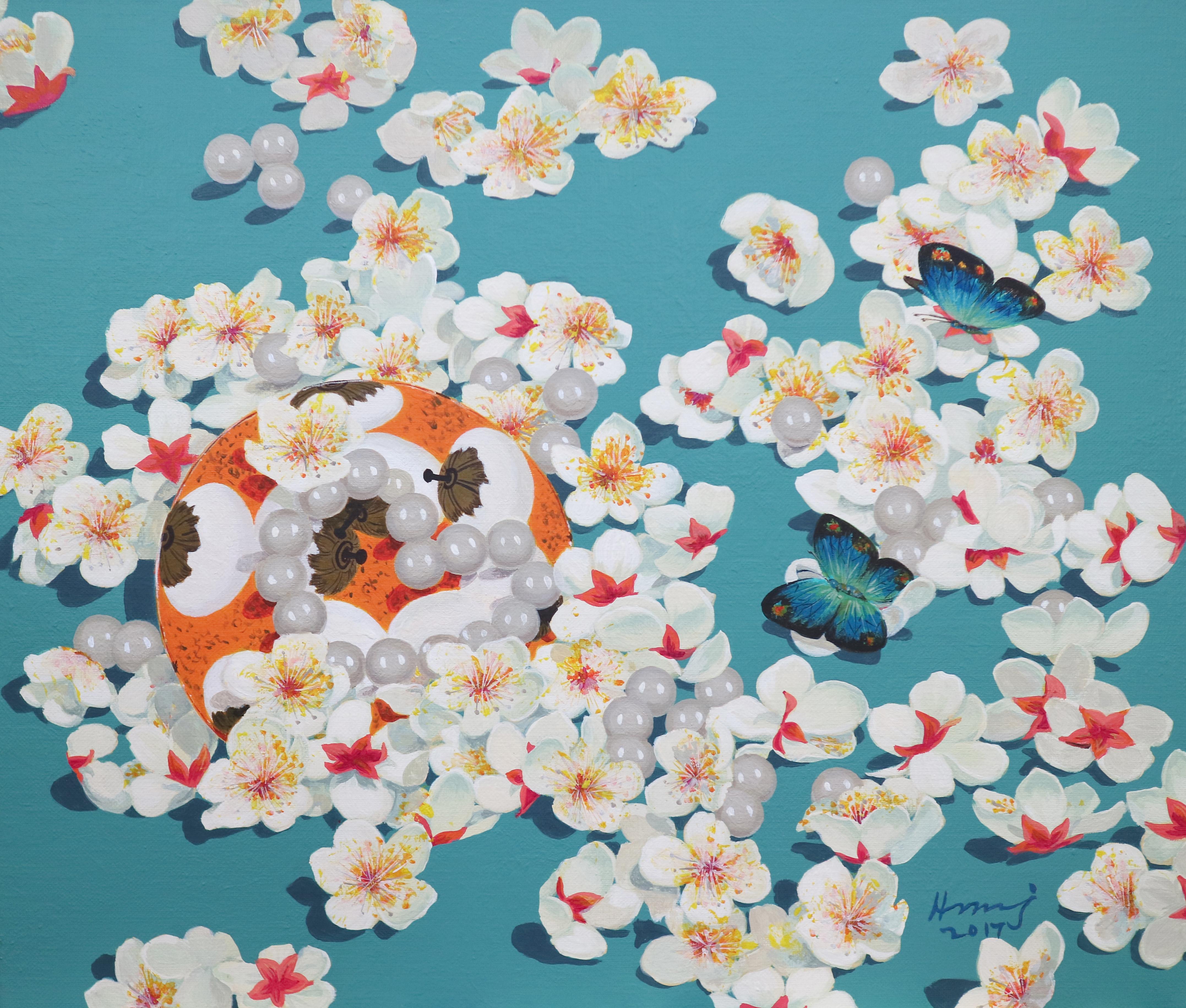 황미정 001 맑은 사랑 45.5x53cm Acrylic on canvas 2017