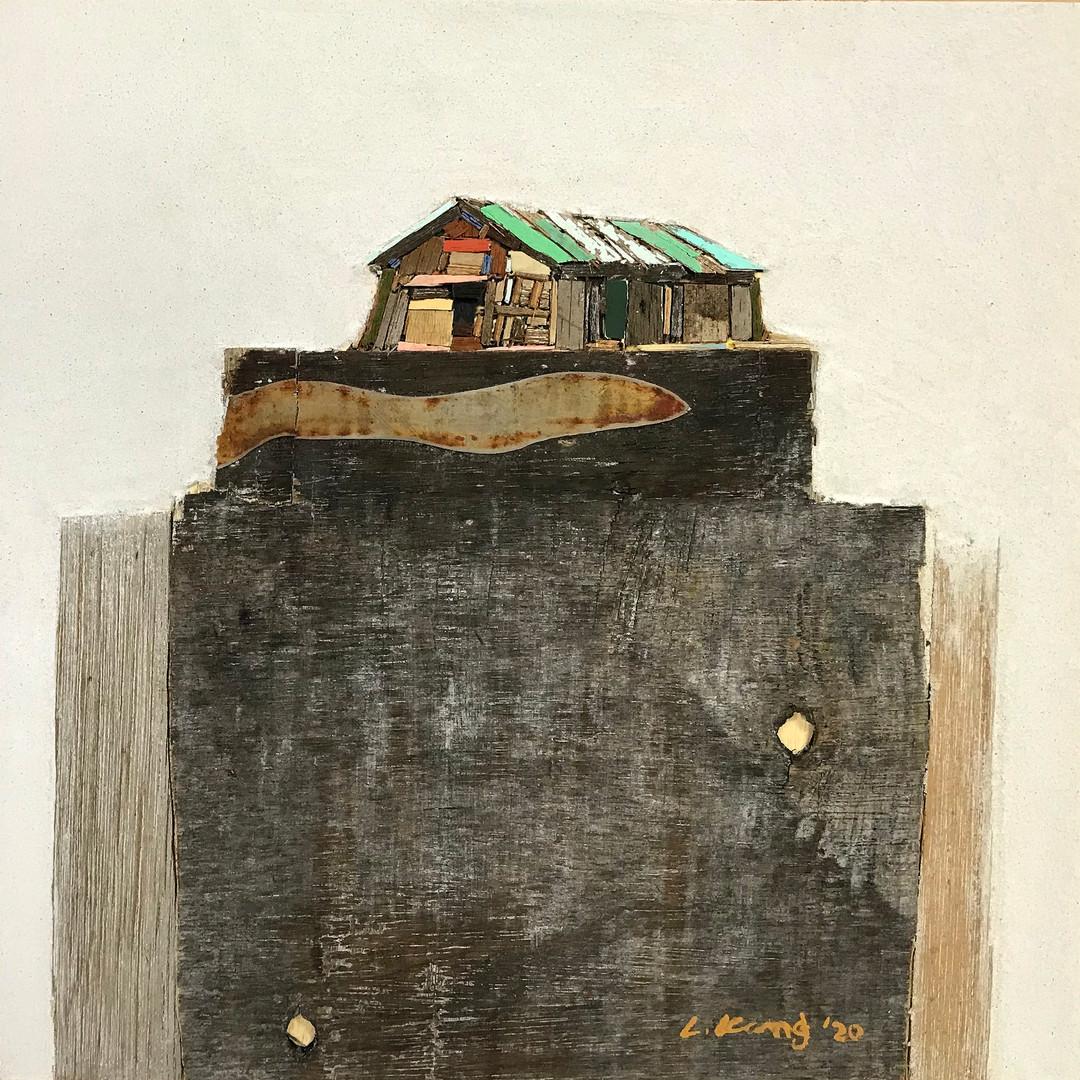 009, 이부강, 꿈꾸는섬(소금창고), 30 x 30 cm, mixed