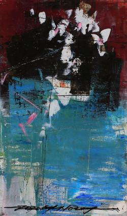 025, 기억의 소환-冬, 41 x 24 cm, 캔버스에 유화물감, 20