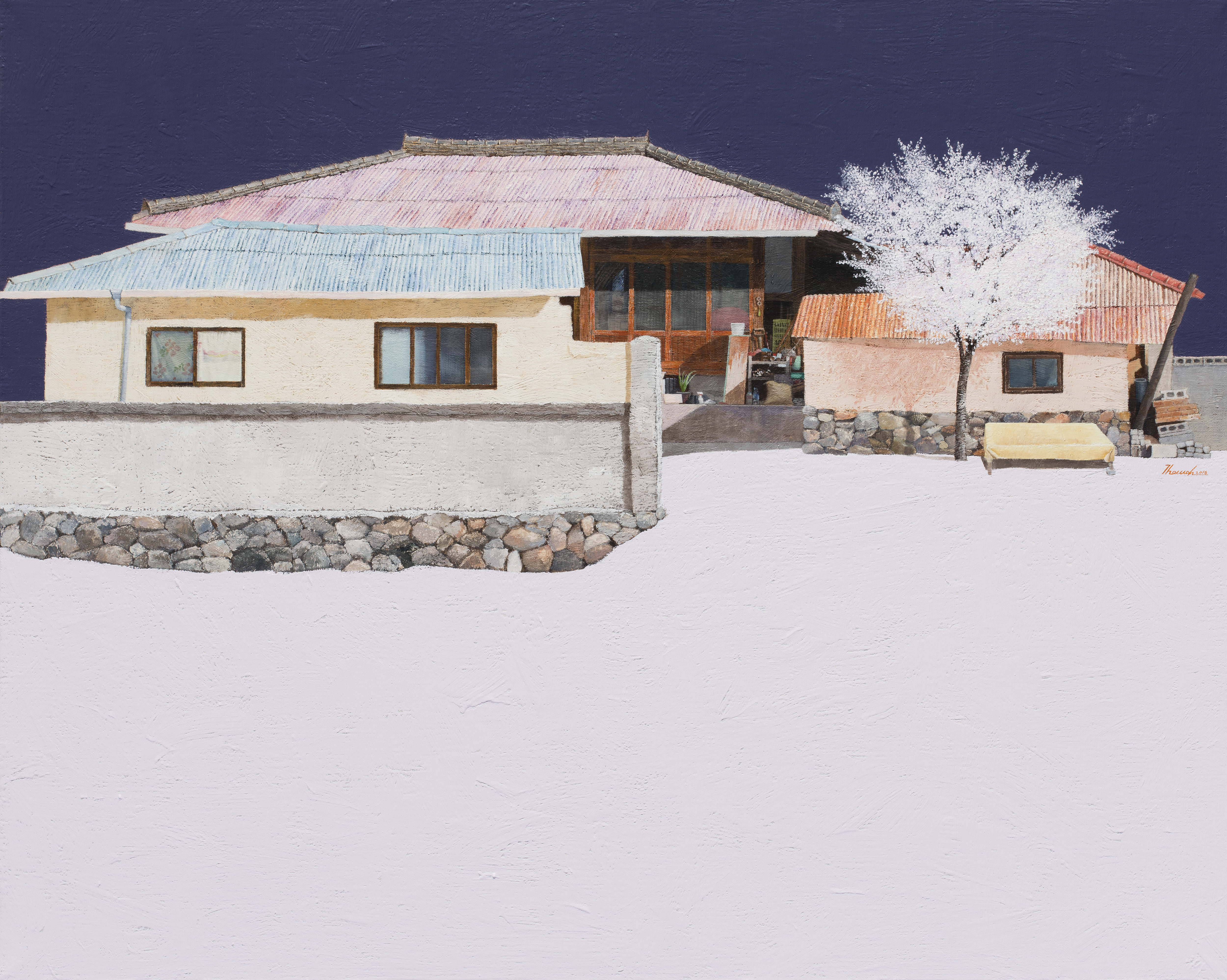 김용일, 진주댁네, 72.7x90.9cm, oil on canvas, 2016