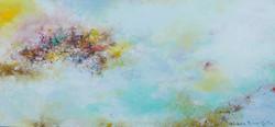 001, 권영범, 어떤여행 (un Voyage), 33 x 70 cm, Oil on canvas, 2021, 300만원