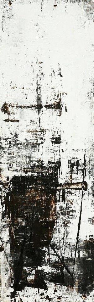 연상록, 적벽강의 겨울서정, 61x18.5cm, 아크릴 및 유화, 2017_2