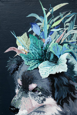 021, 박계숙, 나르시스의 정원-17, 23 x 34 cm, 캔버스에