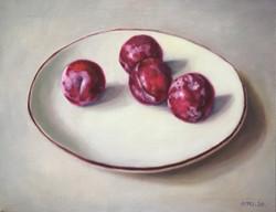026, 자두, 45 x 38 cm, oil on canvas, 2020