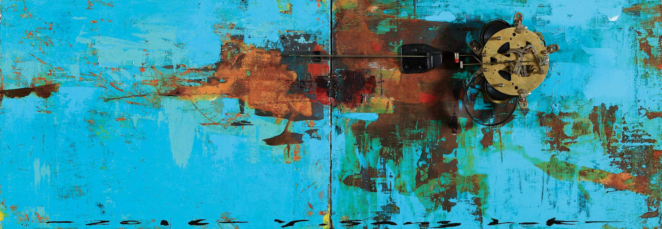 The Memory, 115 x 40 cm, 아크릴, 유화 및 혼합재료, 2017