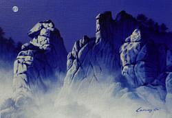 조광기1, 북한산 포대능선, 45 x 31 cm, 혼합재료, 2019