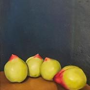 024, 네 개의 천도 복숭아, 32 x 41 cm, oil on can