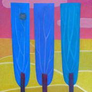 003, 미루나무 세 그루  60.6 × 50.0 oil on canva