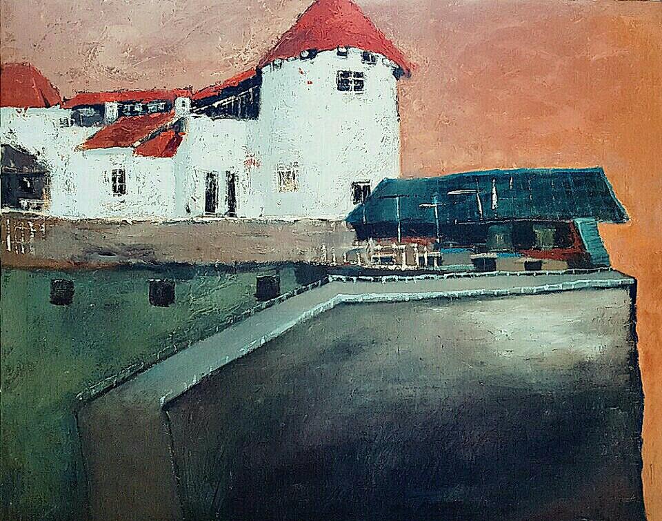 최수란, 블레드 성으로 가는 길, 91x72.5cm, oil on canvas, 2018