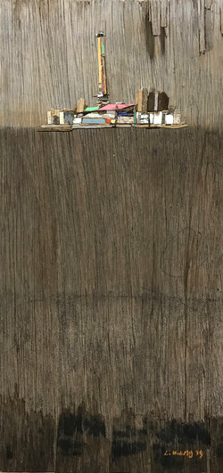 이부강2-1, trace skyline 18, 20 x 40 cm, Mi