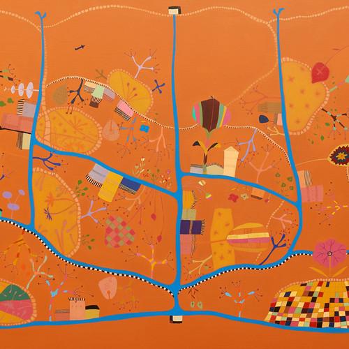 최윤희, Mind map 15-26, 162.2 x 112.0 cm, m