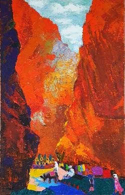 019, 민해정수6, 붉은 협곡 토드라, 33.4 x 53