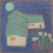 조수정, 007, 달빛 푸르름, 50.7 x 50.7 cm, 삼베캔버스에