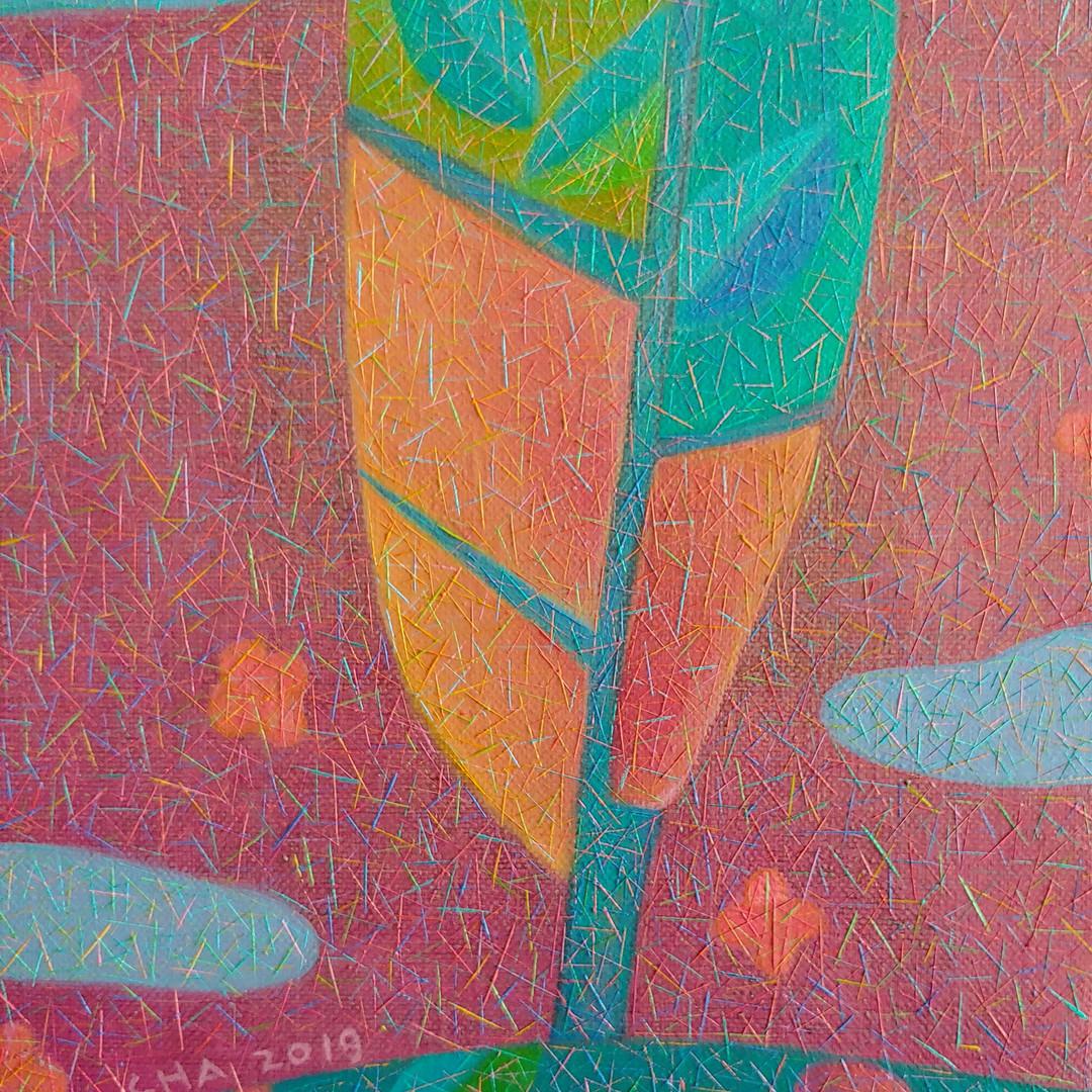 005, 차명주, 꽃지고 저무는 봄, 27.3 x 34.8 cm, oil