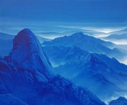 북한산, 61 x 73 cm,  acrylic on canvas, 201