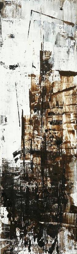 연상록, 적벽강의 겨울서정, 61x18.5cm, 아크릴 및 유화, 2017_1