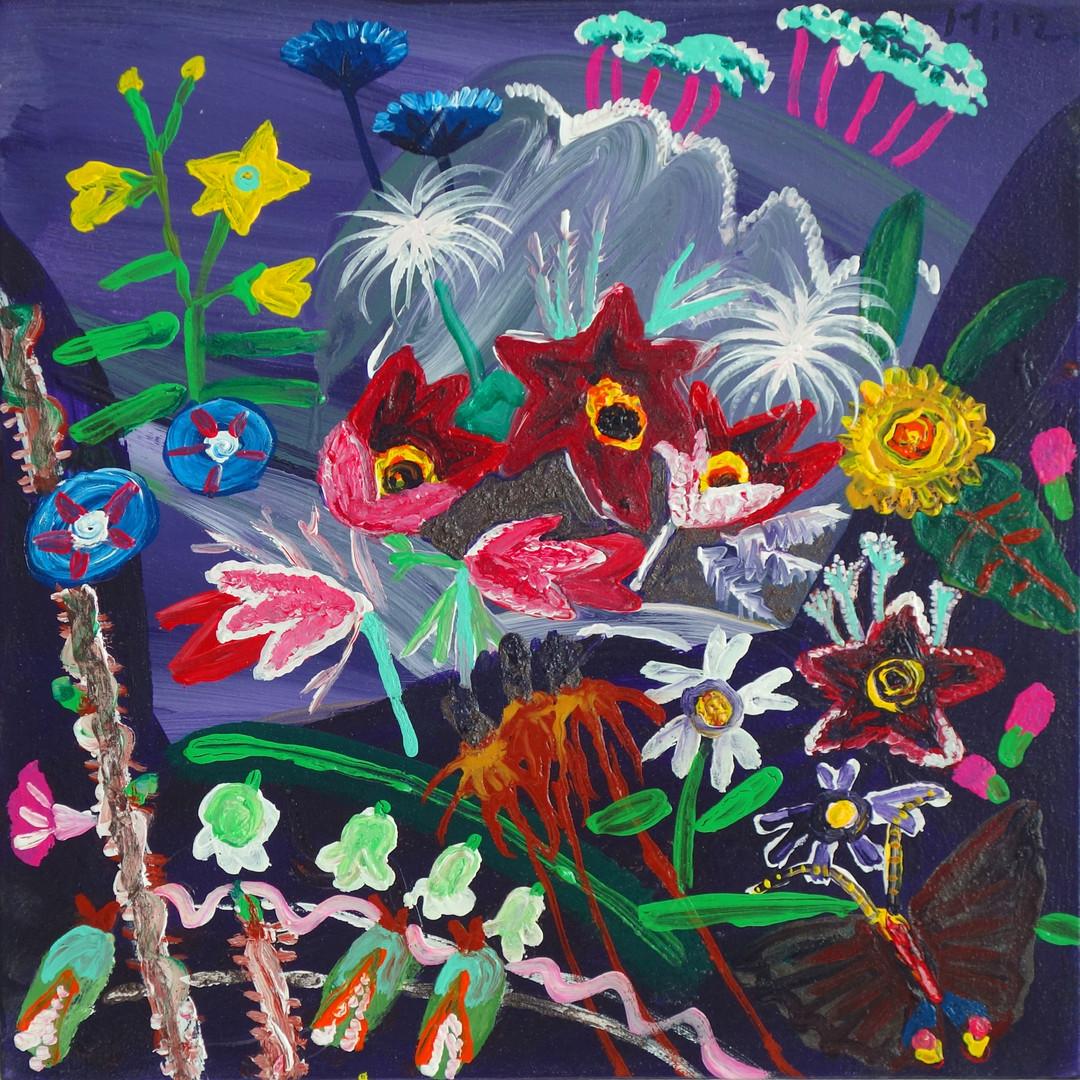 023 민해정수, 할미꽃, 37.8 x 37.8 cm, acrylic o