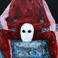 013, 정의철, 붉은 얼굴(가면), 116.8 x 91.0 cm, 판넬