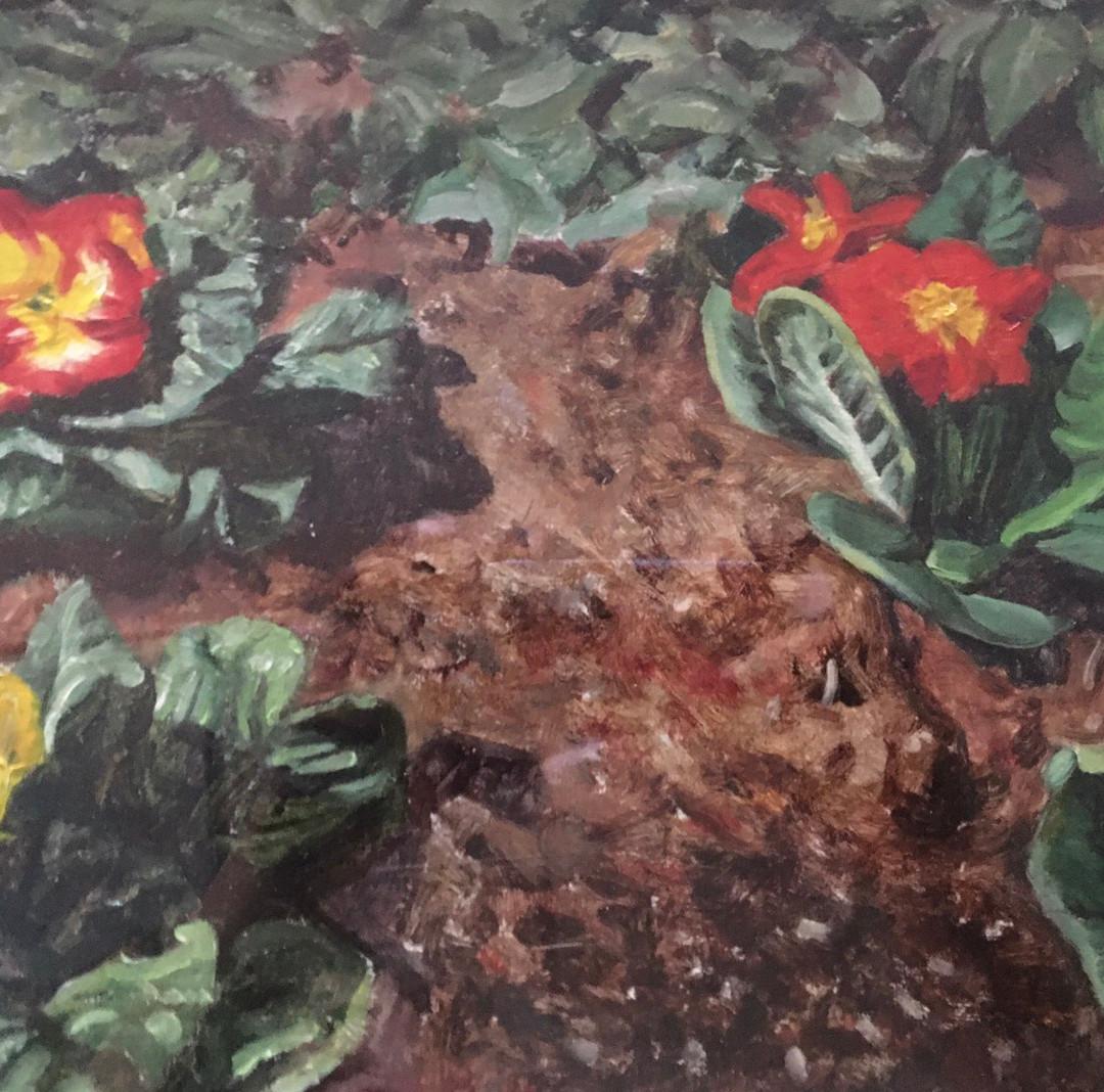 043, 화단, 34 x 27 cm, oil on canvas, 2017