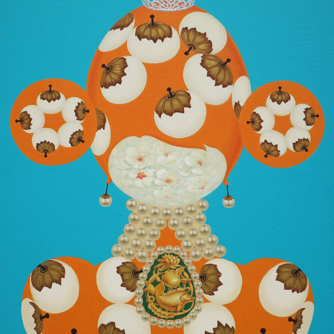 002 분첩공주-04 72.7 x 60.6 cm Acrylic on ca