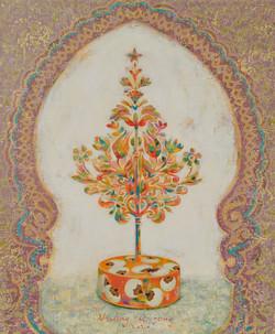 황미정4, 분첩 tree, 45.5 x 37