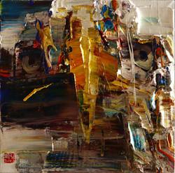 wild aura 2017 eagle 007, 60x60cm, Oil on canvas, 2017