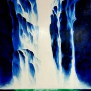 012, 자연-순환(폭포) 90x71cm canvas on acrylic