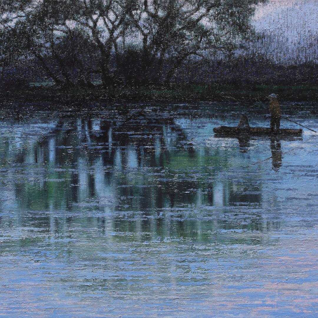 002, 우포늪이야기-흐르는시간 46x61cm oil on canvas
