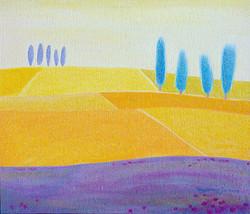 차명주, 양귀비가 있는 밀밭, 53x45