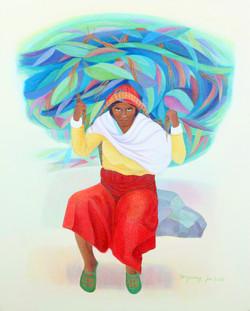 016, 차명주, 트리술리 여인, 90.9 x 72.7 cm, oil on canvas, 2021, 750만원
