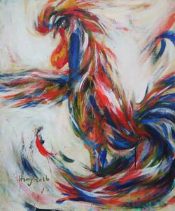 황미정, 닭Ⅱ 60.9 x 72.7cm Acrylic on canvas 2016