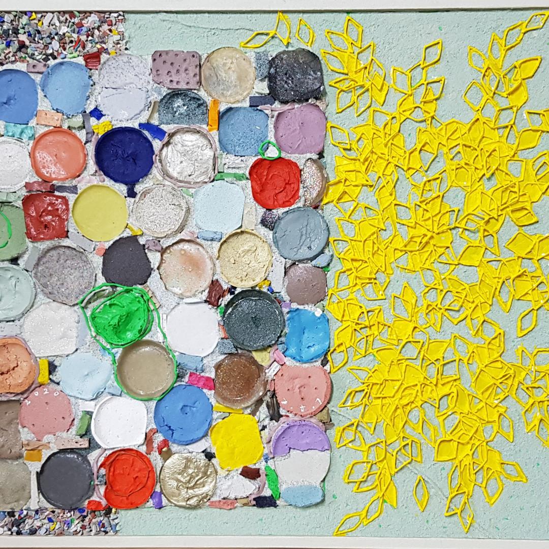 014, 김형길, 제일이라20, 45.5 x 53 cm, 캔버스 위에 혼