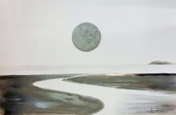 신동권, 일출_신망애, 90x60cm, 하드보드 위에 워터칼라, 2017_edited