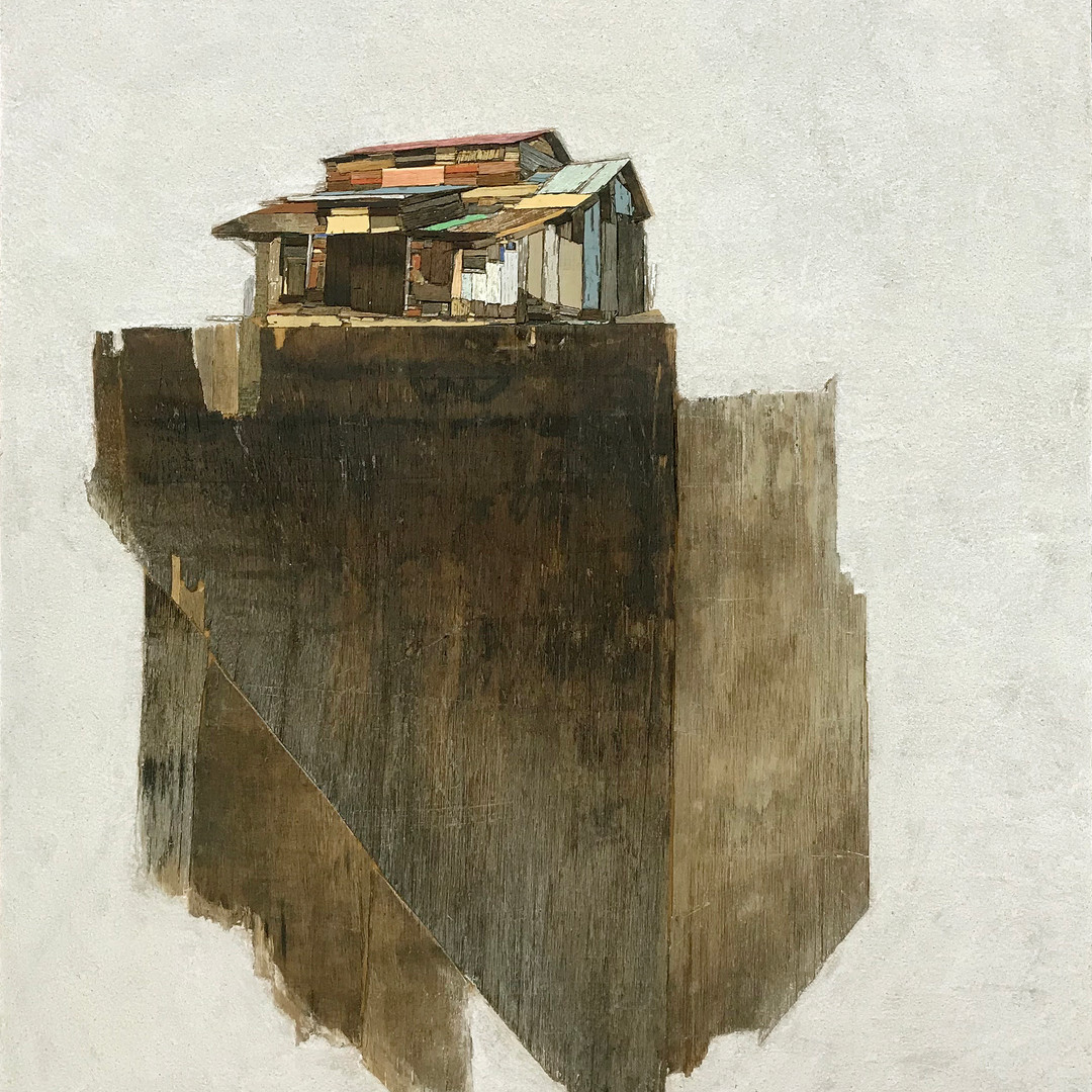 004, 이부강, 꿈꾸는 섬 19, 53 x 73 cm, Mixed me