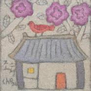조수정, 012, 그리운 집, 33 x 38 cm, 황마캔버스에 혼합재료