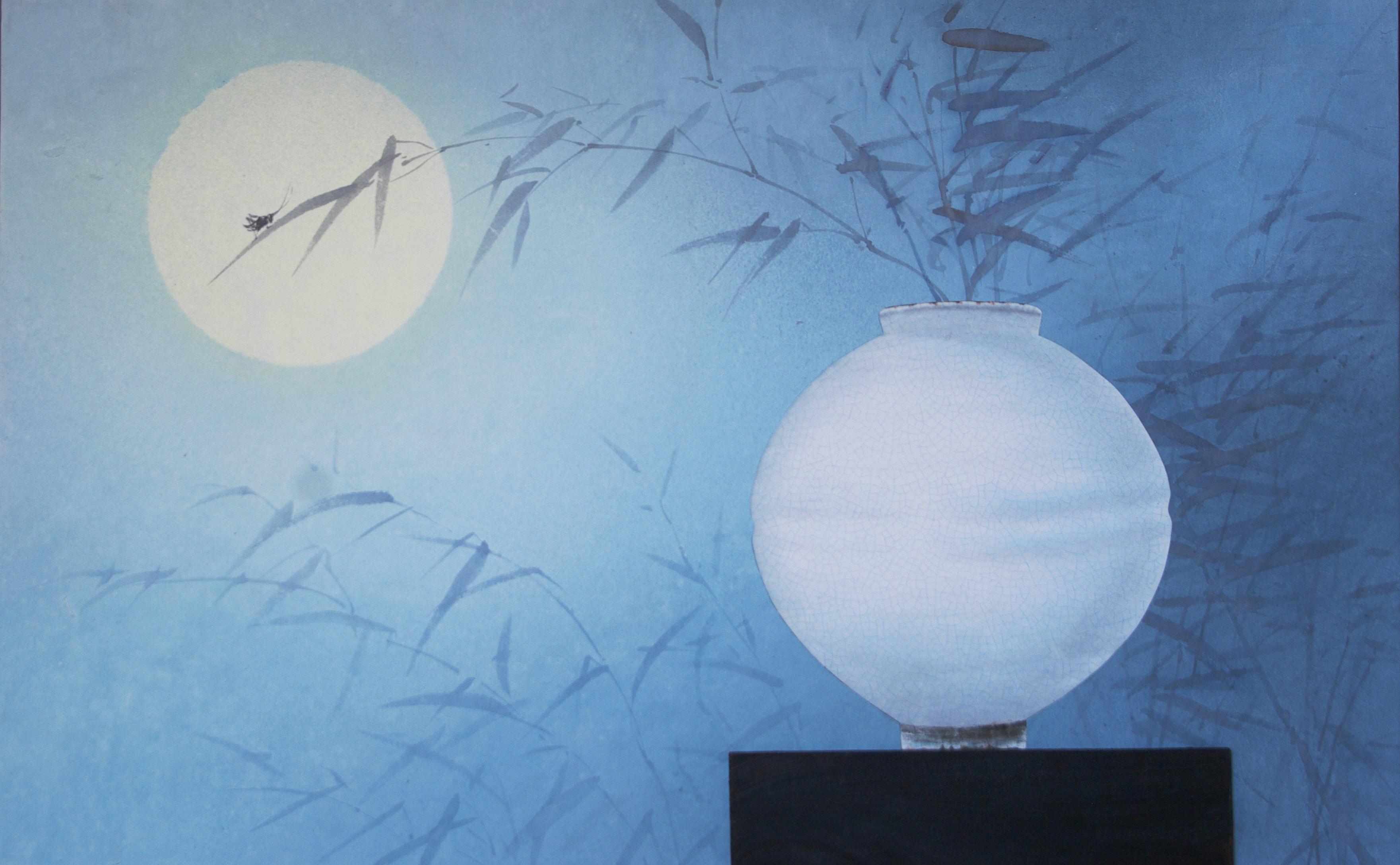 018, 비움과 채움(복을담다), 99 x 62 cm, 한지에 혼합재료,