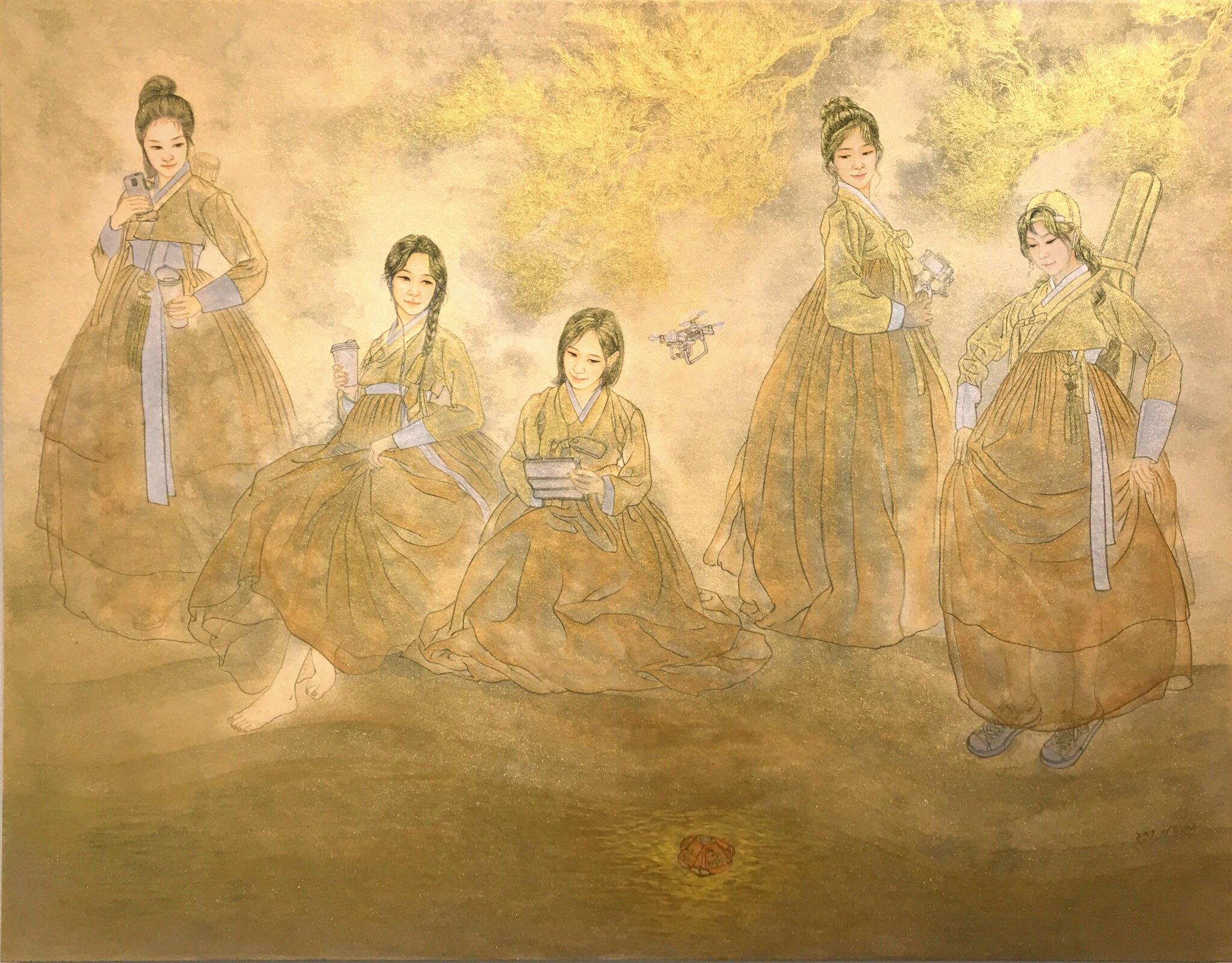 이동연, 천변가화(川邊佳話), 116.5 x 90