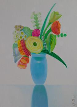 사랑해-꽃53.5x73oil on canvas2019
