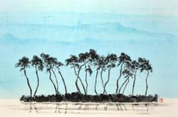008, 송승호, 합천호수의 추억, 73 x 50 cm, 화선지에 수묵담
