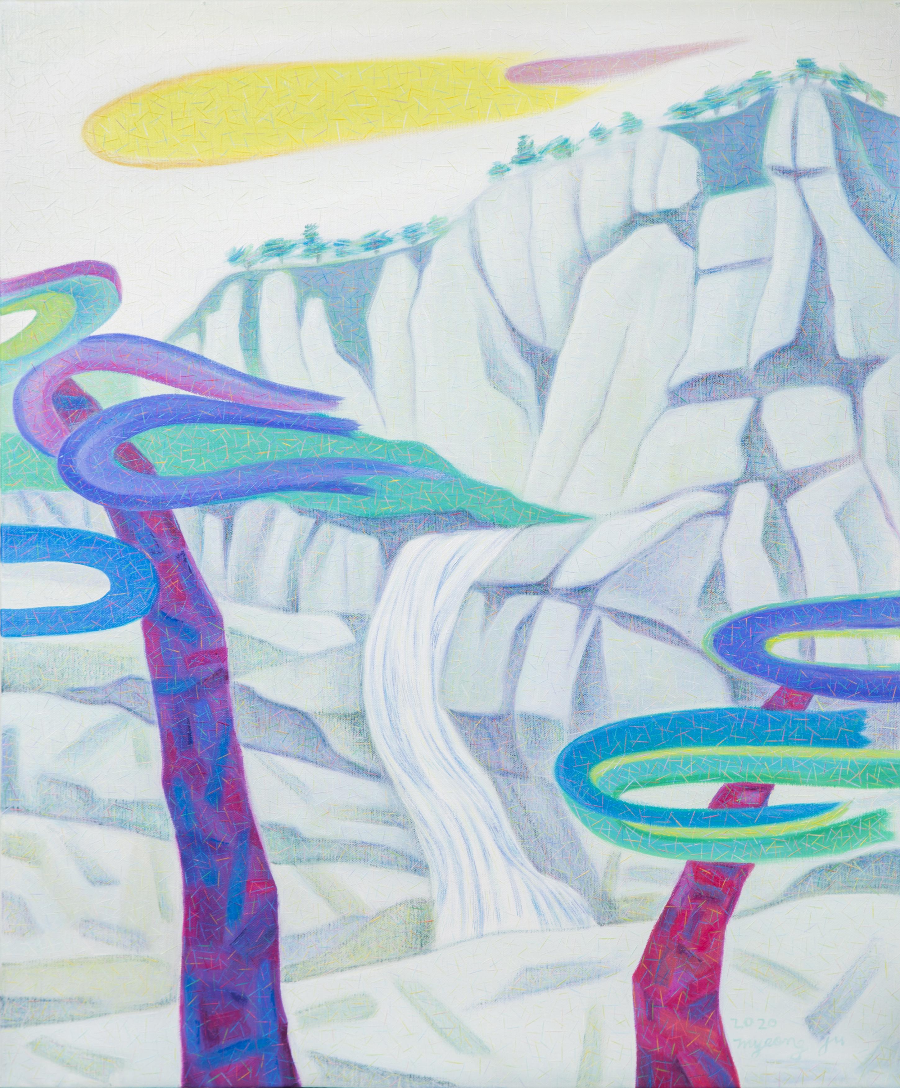 차명주, 두타산 무릉계곡, 72.7 x 60