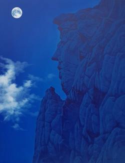 봉정암 부처바위, 90 x 118 cm, acrylic on canvas