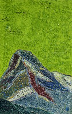 산, 97x62cm, Mixed material, 2017