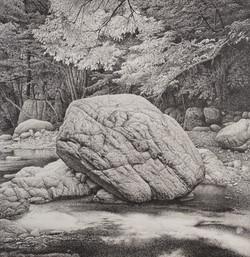 역사앞에서-수암림-2012-장지에+수묵-115x112cm