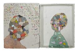 027, 김형길, 동행-1, 15.3 x 23.8 cm, 종이상자에 혼합재료, 2021, 40만원
