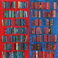 010 red and blue crying, 50 x 100 ㎝, 판넬
