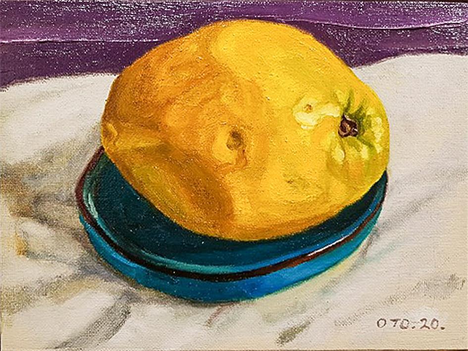 005, 모과7, 20 x 20 cm, oil on canvas, 202
